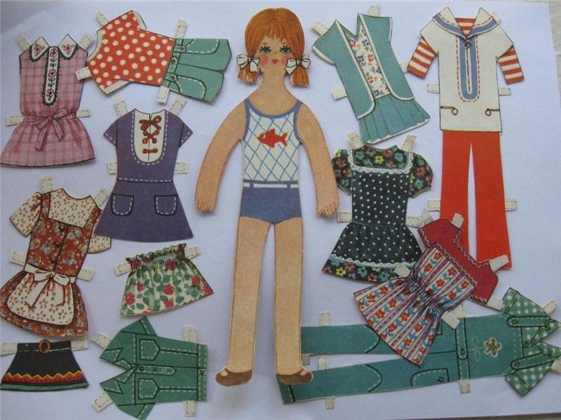 советские бумажные куклы