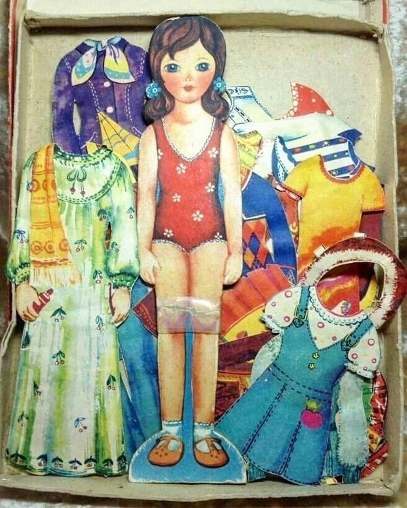 бумажная кукла с нарядами ссср