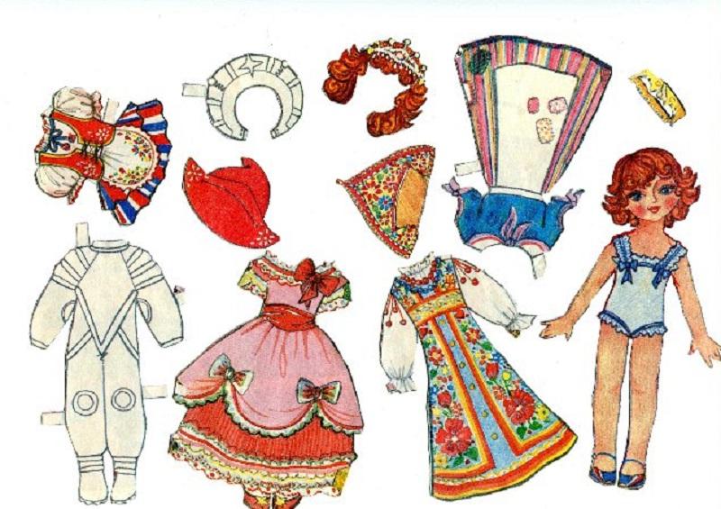 наряды для кукол нарисованные