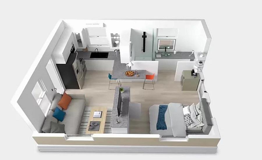планировка дома Boxabl