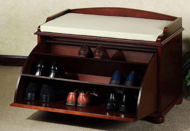 хранение обуви в банкетке
