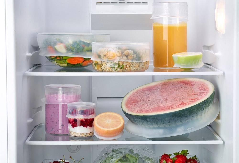 продукты в холодильнике накрытие крышками