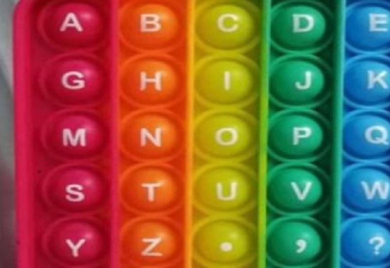 поп-ит с алфавитом