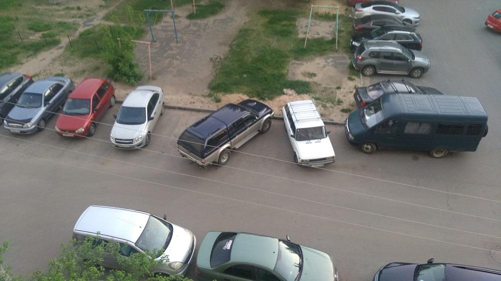 парковка наискось