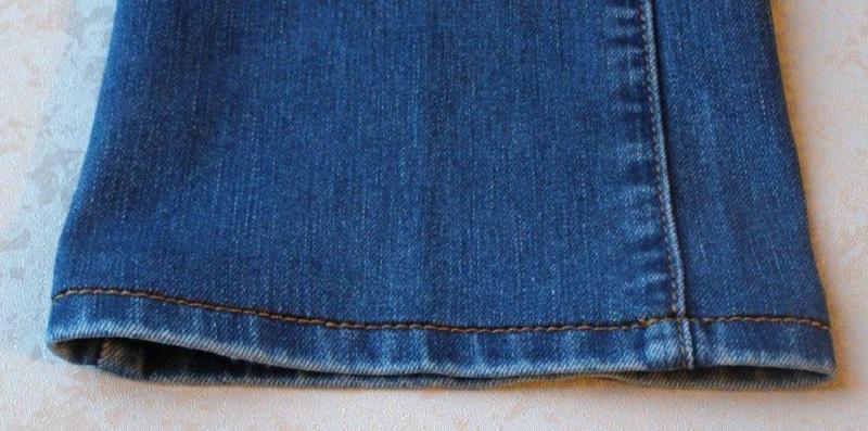 как подрезать джинсы