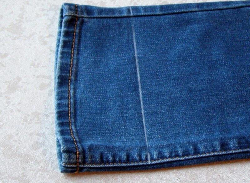 наметить длину джинсов