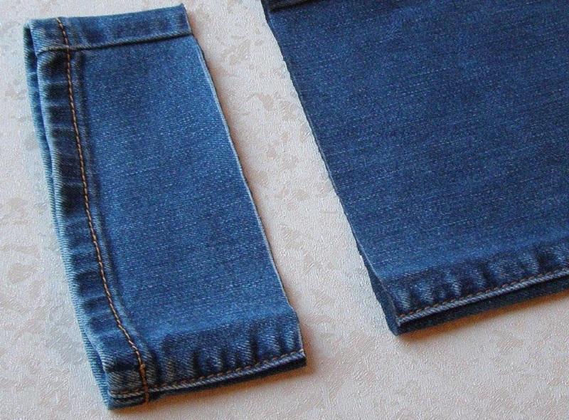 обрезать джинсы