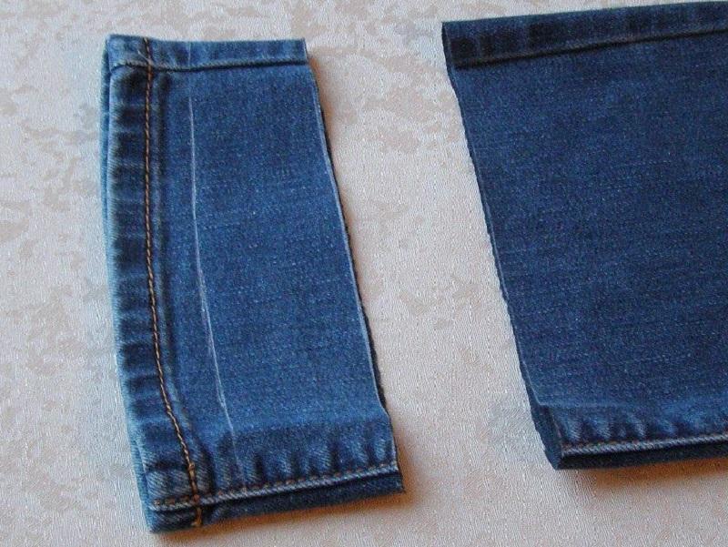 как обрезать джинсы припуски