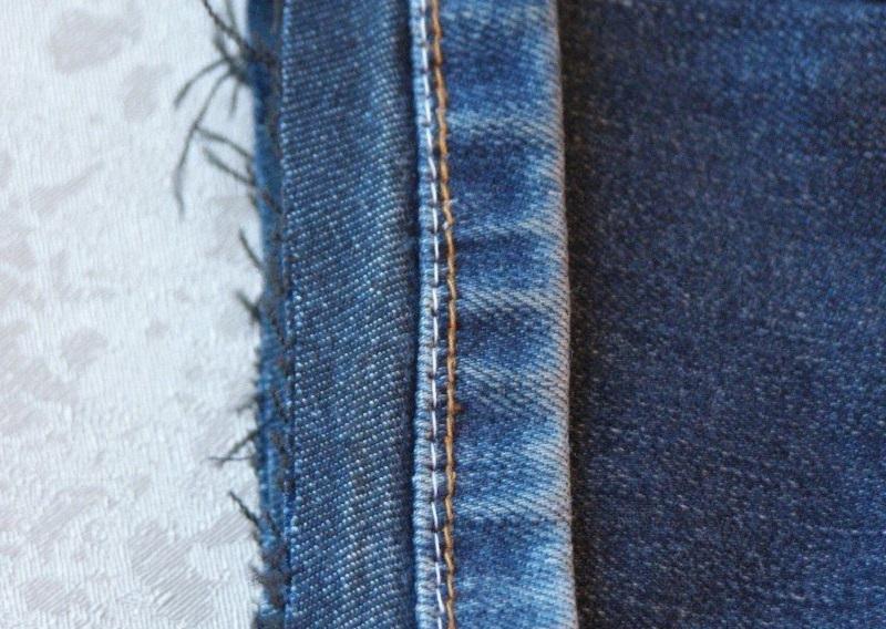 сделать строчку на джинсах