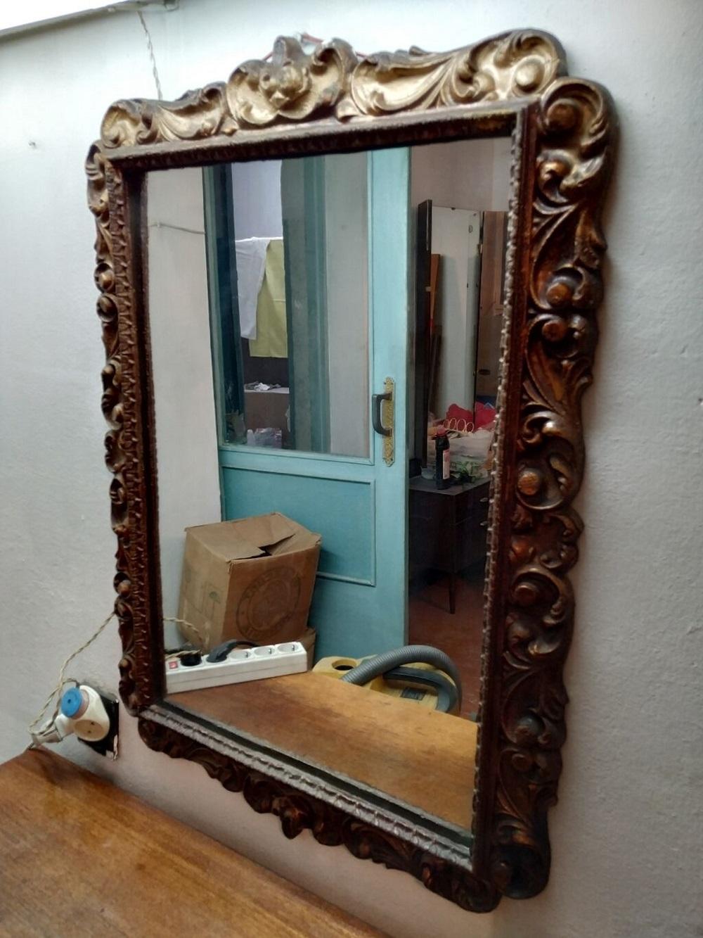 советское антикварное зеркало