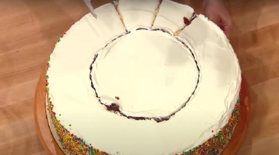 как разрезать торт