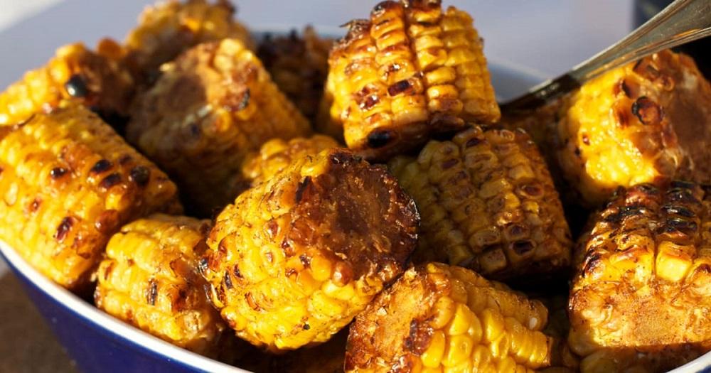 кукуруза на гриле готовая