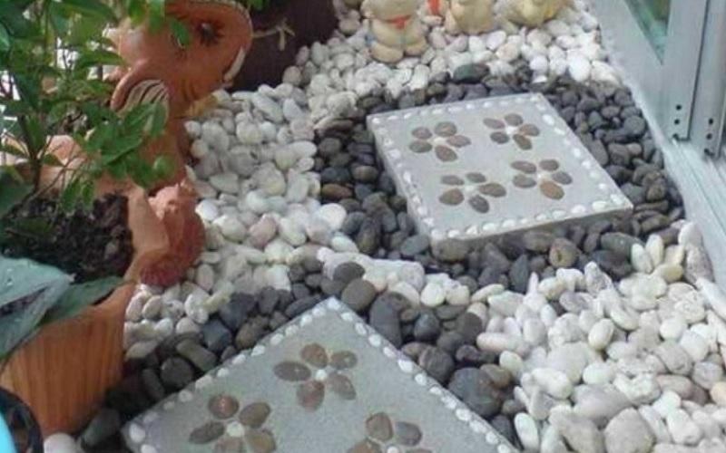 Камень в интерьере: зимний сад