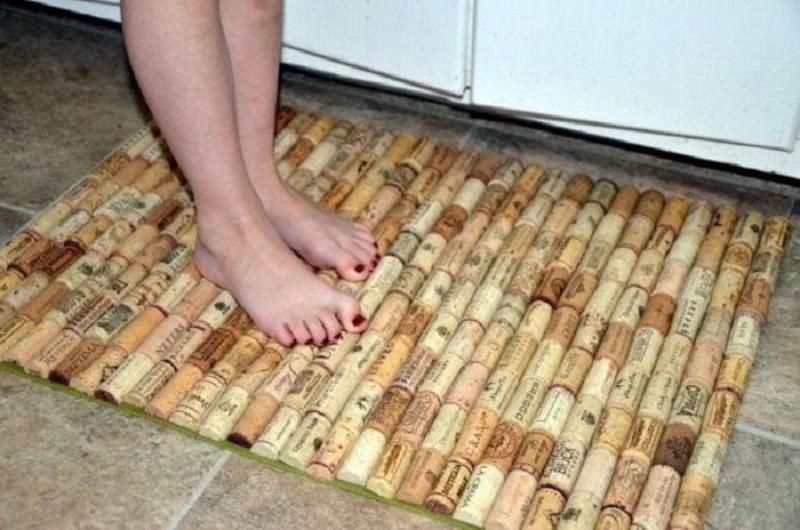 коврик из пробок для ног
