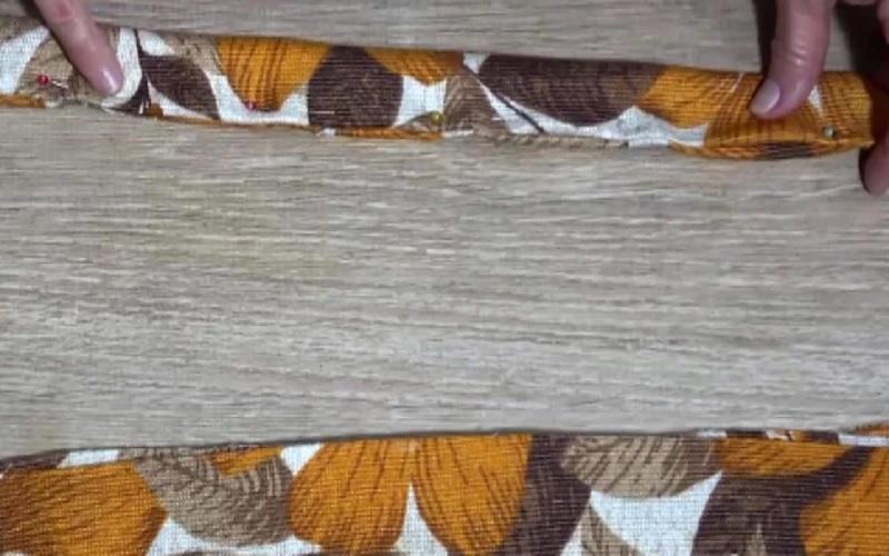 зашить полосы для коврика