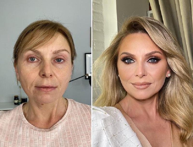 макияж с эффектом лифтинга