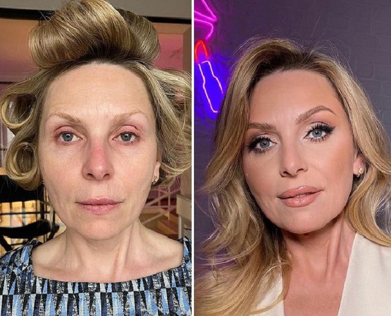 макияж с эффектом лифтинга дневной