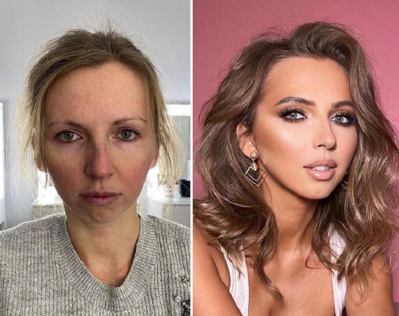 макияж с консилером