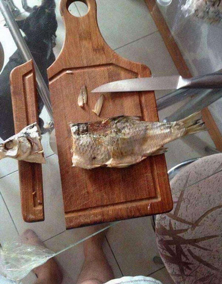 кухонные неудачи наточил ножи