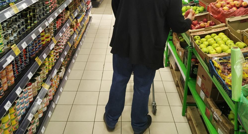 маркетинговый ход мелкая плитка на полу супермаркета