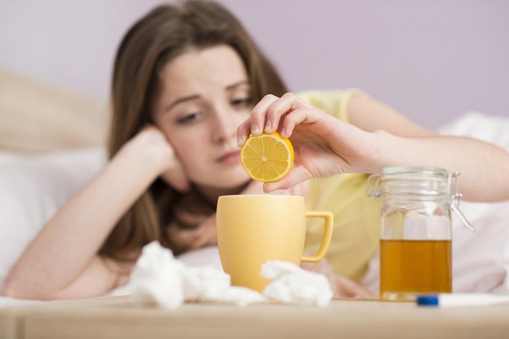 чай с лимоном народные средства от кашля