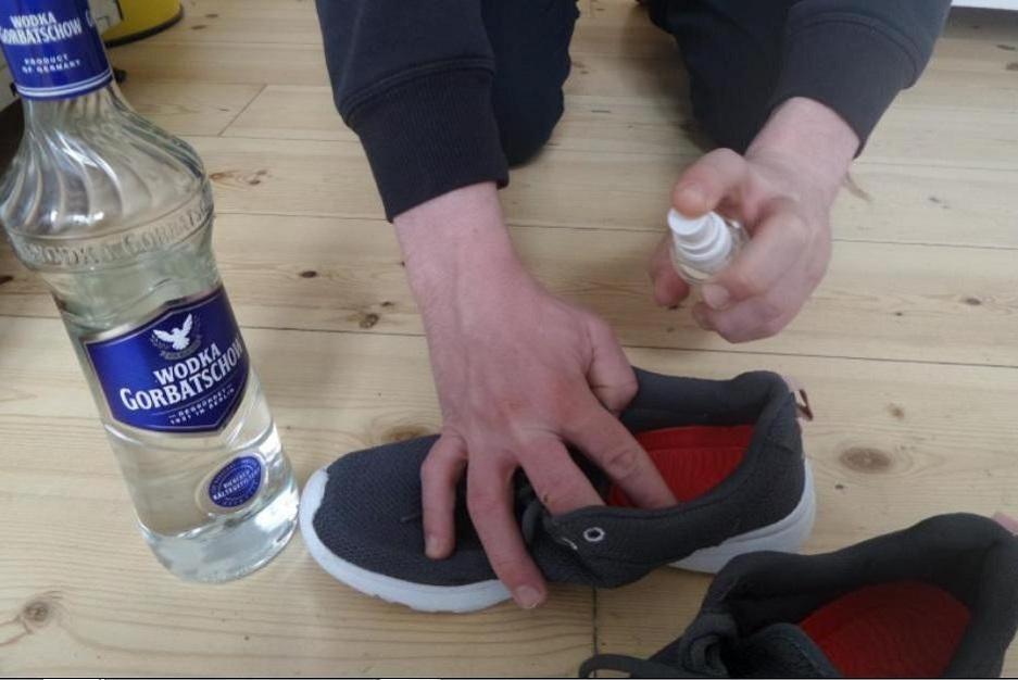 водка от запаха обуви