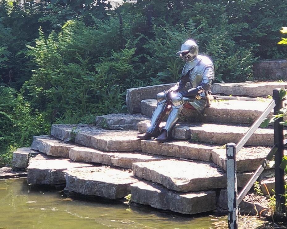 необычные находки рыцарь в парке