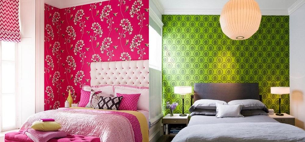 обои для маленькой комнаты яркие