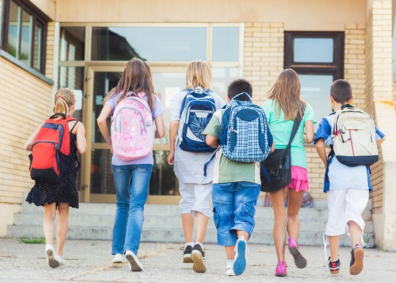 ученики идут в школу