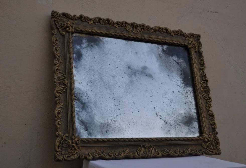 старое серебряное зеркало