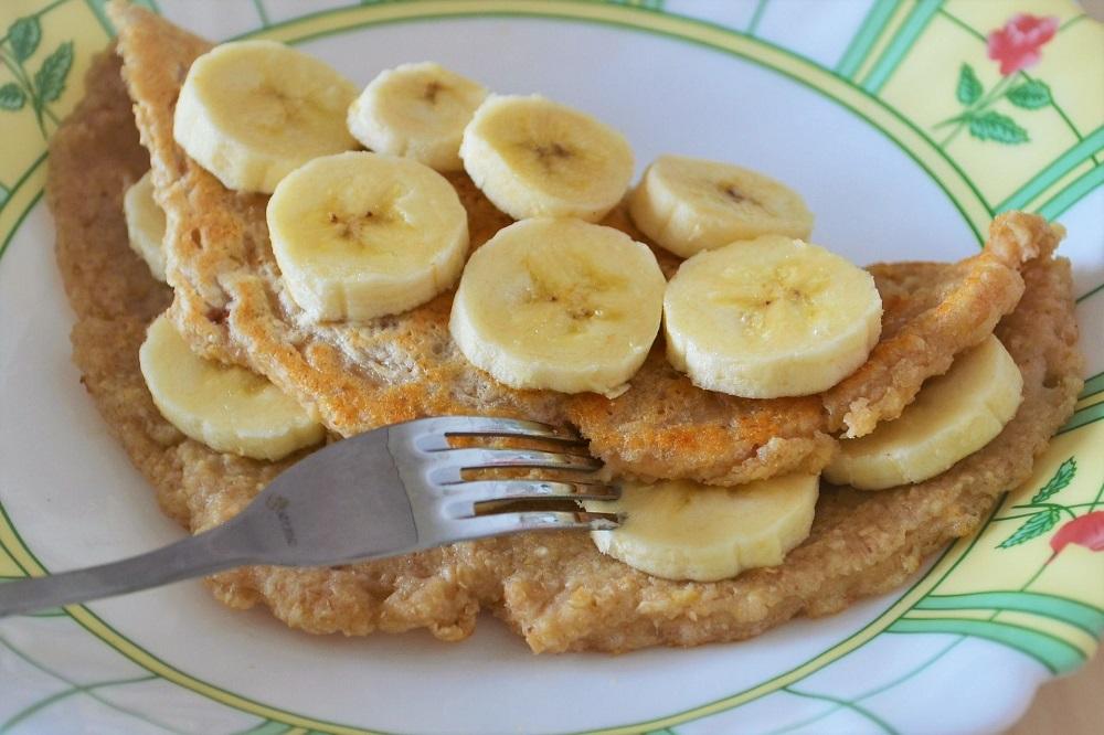 правильный овсяноблин из банана