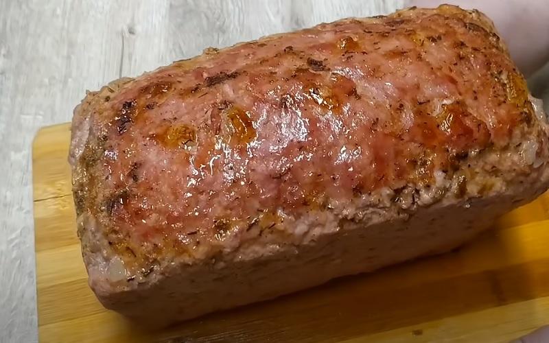 готовое блюдо по рецепту мясного хлеба