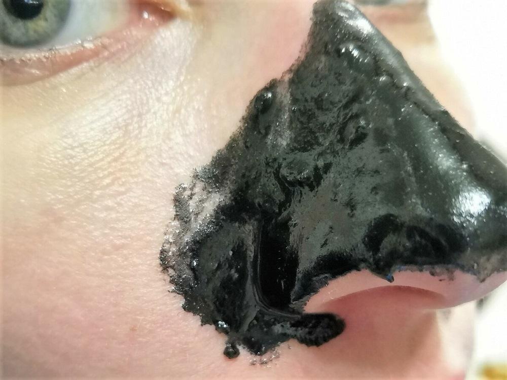 очищение носа желатином и активированным углем