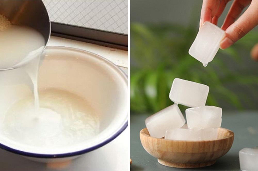 рисовый лед для лица