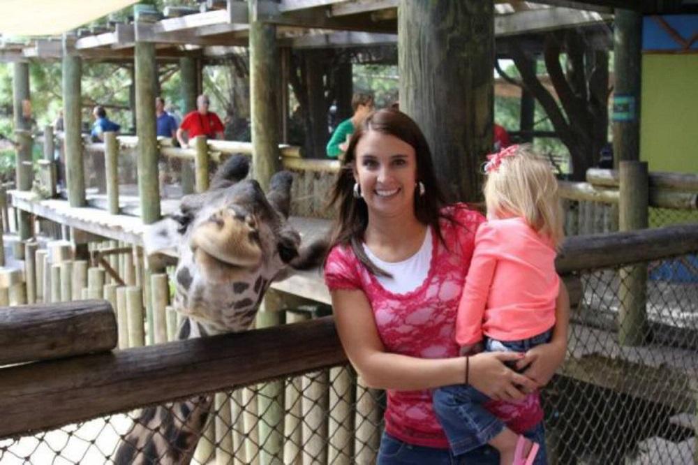 улыбающийся жираф попал в кадр