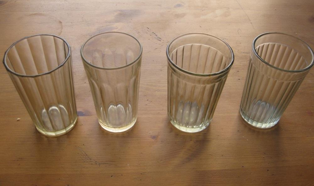количество граней в стакане