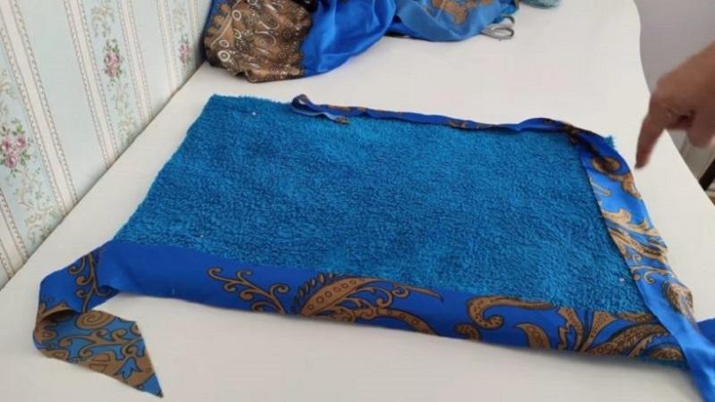приметать косую бейку к ткани