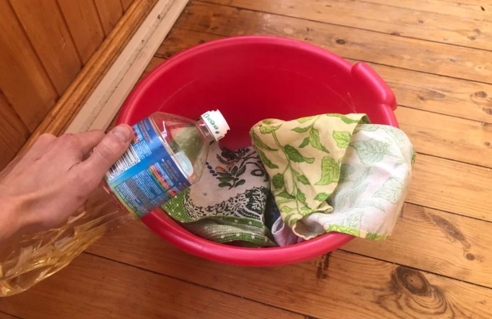 стирка полотенец растительным маслом