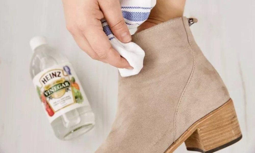 уксус от соли на обуви