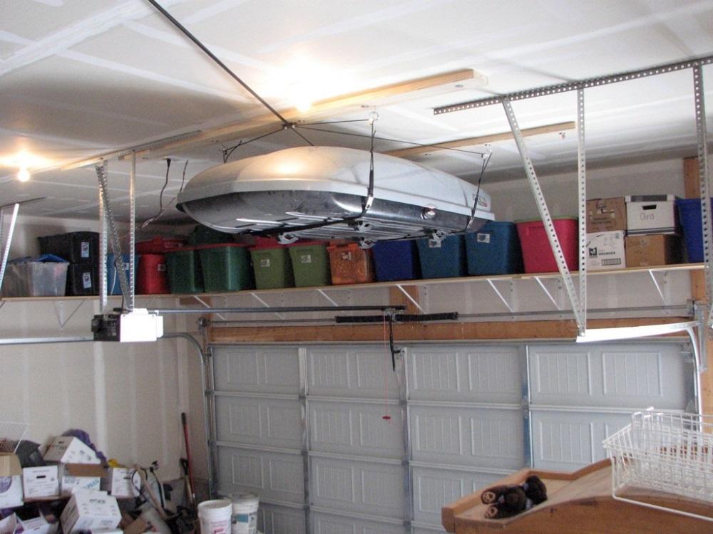 хранение крупных вещей в гараже