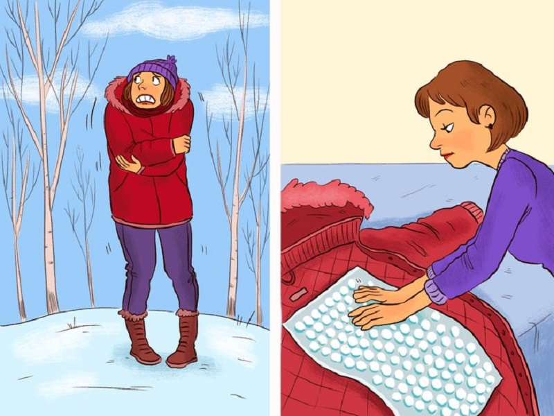 воздушная подушка от холода из пленки