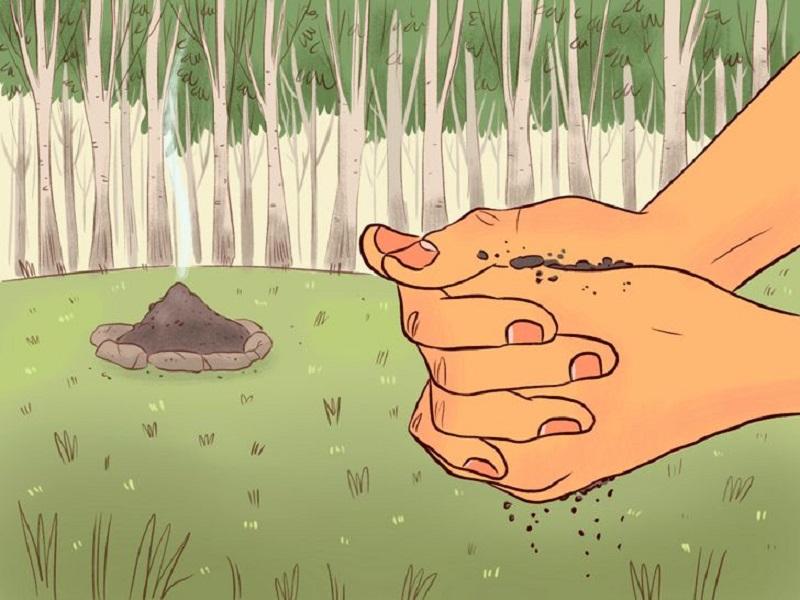 помыть руки пеплом