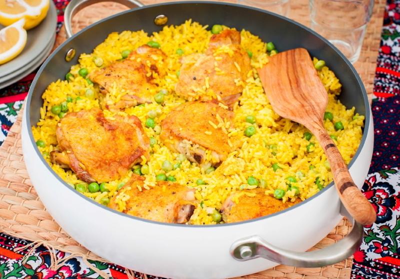вкусная курица на сковороде