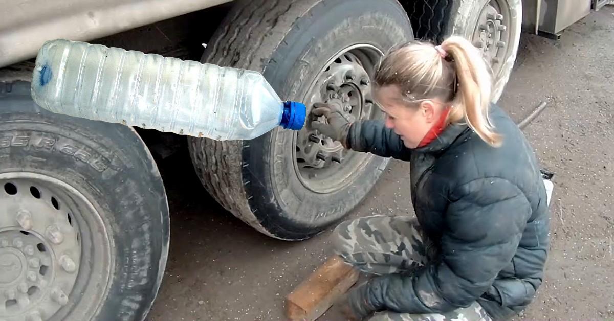 зачем дальнобойщикам бутылки на колесах