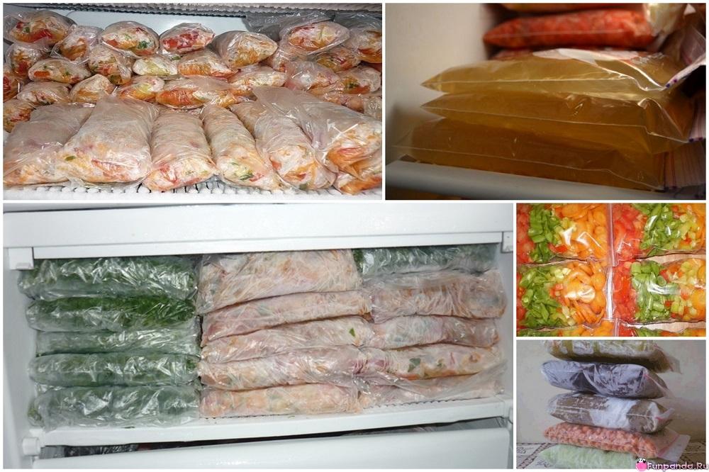 замороженные продукты в пакетах