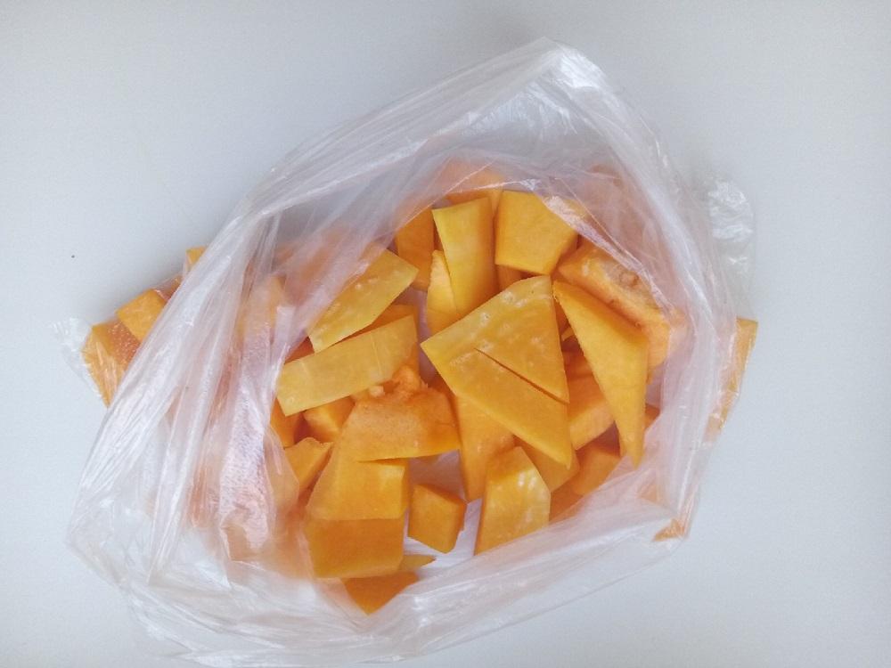 замороженная тыква в пакете