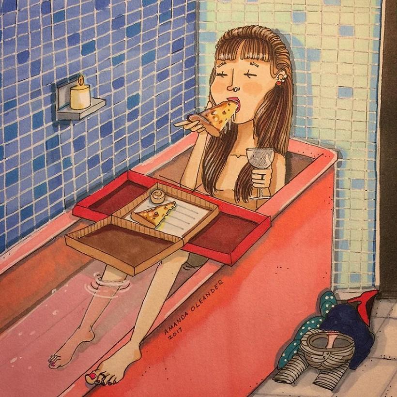 женские проблемы в рисунках Аманды Олеандр