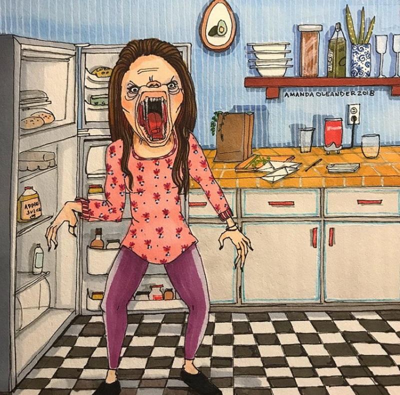 женщина во время пмс рисунок